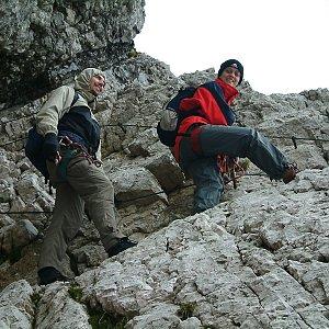 Martin Matějka na vrcholu Mangart (15.9.2003 13:00)