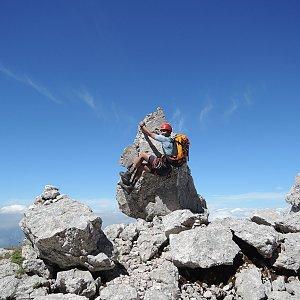 Fíkus na vrcholu Mangart (29.7.2017 12:30)