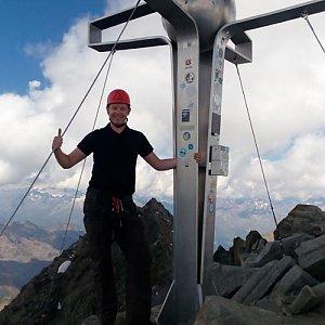 Petr Papcun na vrcholu Zuckerhutl (28.8.2016 11:12)