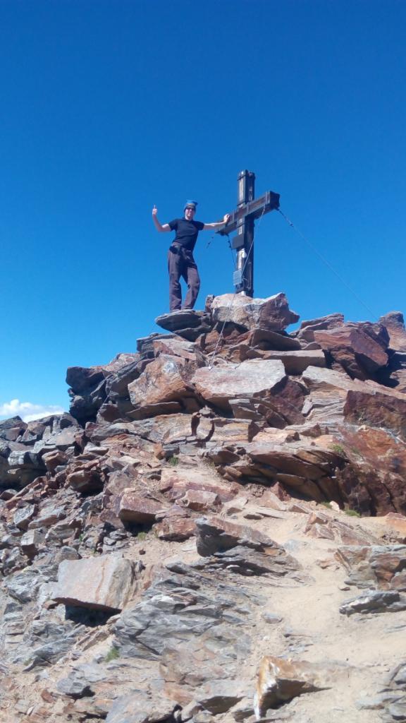 Petr Papcun na vrcholu Schaufelspitze (27.8.2016 13:15)
