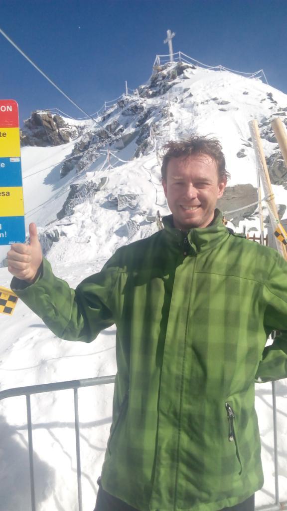 Petr Papcun na vrcholu Mont Fort (22.2.2017 11:18)