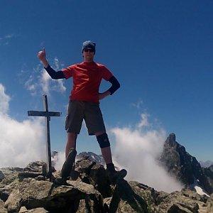 Petr Papcun na vrcholu Rocca Bianca (7.7.2016 13:00)