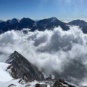 Martin Malý na vrcholu Ulrichshorn (6.8.2021 9:24)