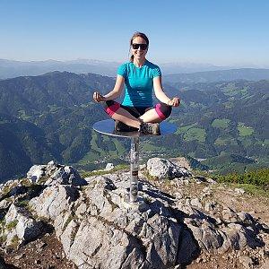 Denisa na vrcholu Hochlantsch (4.5.2018 13:38)