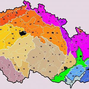 Nejvyšší body geomorfologických celků v Česku