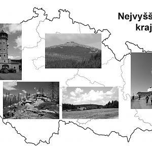 Nejvyšší vrcholy všech krajů ČR
