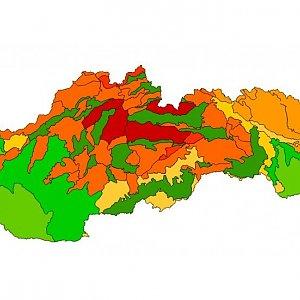 Najvyššie body geomorfologických celkov Slovenska